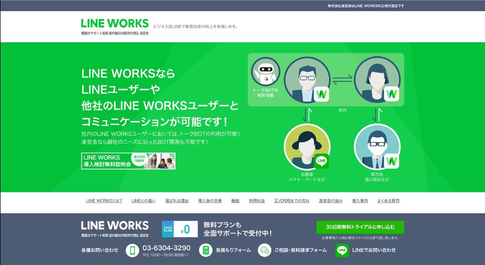 LINE WORKSファーストビュー
