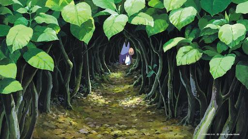 となりのトトロ葉っぱのトンネル