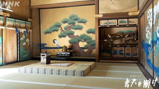 徳川慶喜が座った上段の間